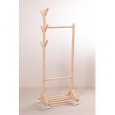 Mitta houten kapstok met wieltjes, miniatuur afbeelding 2