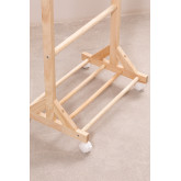 Mitta houten kapstok met wieltjes, miniatuur afbeelding 4