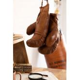 Nate lederen bokshandschoenen, miniatuur afbeelding 1