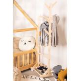 Mitta houten kapstok met wieltjes, miniatuur afbeelding 1
