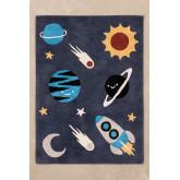 Katoenen vloerkleed (140x100 cm) Space Kids, miniatuur afbeelding 1