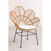 Rinum synthetische rieten fauteuil, miniatuur afbeelding 2