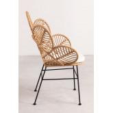 Rinum synthetische rieten fauteuil, miniatuur afbeelding 3