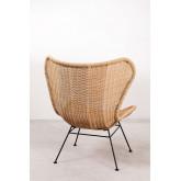 Isdra fauteuil van synthetisch rieten, miniatuur afbeelding 4