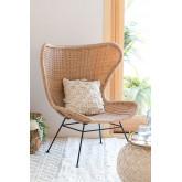 Isdra fauteuil van synthetisch rieten, miniatuur afbeelding 1