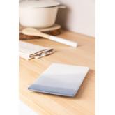 Pack van 4 rechthoekige borden (21x13 cm) Mar, miniatuur afbeelding 1
