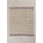 Geruite deken in Tenesi katoen, miniatuur afbeelding 2