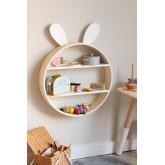 Buny Kids houten boekenkast, miniatuur afbeelding 1