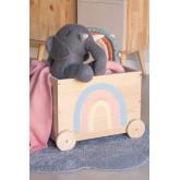 Tedis houten opbergwagen voor kinderen, miniatuur afbeelding 1