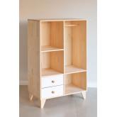 Boxy houten kleerkast voor kinderen, miniatuur afbeelding 2