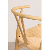 Hoge kruk met rugleuning in Uish-hout, miniatuur afbeelding 6