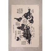 Decoratieve wandkaart in katoen terra, miniatuur afbeelding 1