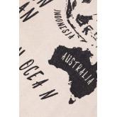 Decoratieve wandkaart in katoen terra, miniatuur afbeelding 3