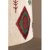 Agra tafellamp van hout en stof, miniatuur afbeelding 5