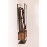 Rechthoekige wandspiegel met lade van hout en metaal (99x50 cm) Oyan, miniatuur afbeelding 4