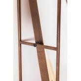 Rechthoekige wandspiegel met lade van hout en metaal (99x50 cm) Oyan, miniatuur afbeelding 5