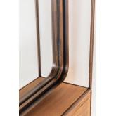 Rechthoekige wandspiegel met lade van hout en metaal (99x50 cm) Oyan, miniatuur afbeelding 6