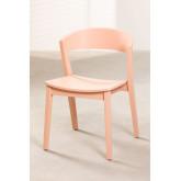 Stapelbare stoel in gemberhout, miniatuur afbeelding 1