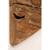 Raffa houten kapstok met wandplank, miniatuur afbeelding 6