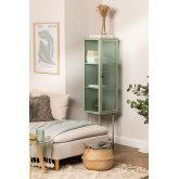 Vitrine met 1 deur van metaal en verticaal glas, miniatuur afbeelding 1