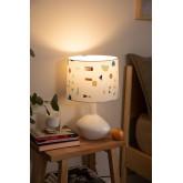 Tafellamp in stof en polyethyleen Triya, miniatuur afbeelding 2