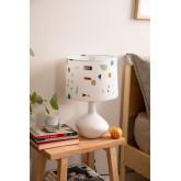 Tafellamp in stof en polyethyleen Triya, miniatuur afbeelding 1