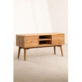 Memphis teakhouten tv-meubel, miniatuur afbeelding 2