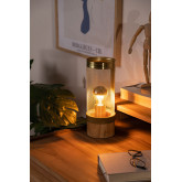 Okku geborstelde tafellamp, miniatuur afbeelding 2