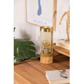 Okku geborstelde tafellamp, miniatuur afbeelding 1