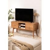 Memphis teakhouten tv-meubel, miniatuur afbeelding 1