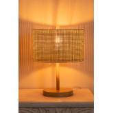 Tafellamp in rotan en metaal Bizay, miniatuur afbeelding 4