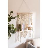 Wandtapijt met wandplank in Luad katoen, miniatuur afbeelding 1