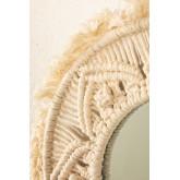 Ronde wandspiegel in macramé (Ø35 cm) Adrien, miniatuur afbeelding 3