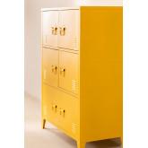 Pohpli metalen locker met 6 deuren, miniatuur afbeelding 2
