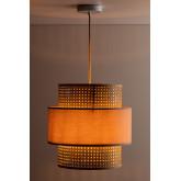 Plafondlamp in rotan satu, miniatuur afbeelding 3