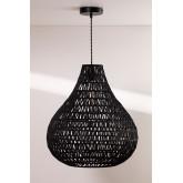 Nok plafondlamp van gevlochten papier, miniatuur afbeelding 2
