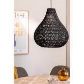 Nok plafondlamp van gevlochten papier, miniatuur afbeelding 1