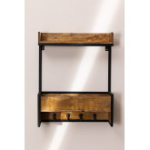 Selan houten wandkapstok, miniatuur afbeelding 3