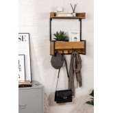 Selan houten wandkapstok, miniatuur afbeelding 1
