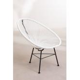 Set 2 stoelen en 1 tafel in polyethyleen en staal New Acapulco, miniatuur afbeelding 3