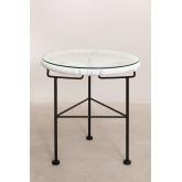 Set 2 stoelen en 1 tafel in polyethyleen en staal New Acapulco, miniatuur afbeelding 4