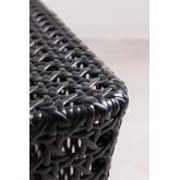 Rechthoekige salontafel in rotan net, miniatuur afbeelding 5