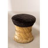 Deze lage bamboe kruk, miniatuur afbeelding 2