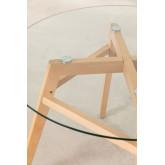 Eettafel van glas en beukenhout (Ø80 -Ø120 cm) Scand Nordic , miniatuur afbeelding 4