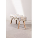 Bank van hout en wol van Laison, miniatuur afbeelding 3