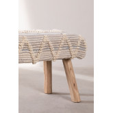 Bank van hout en wol van Laison, miniatuur afbeelding 5