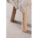 Bank van hout en wol van Laison, miniatuur afbeelding 6