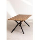 Kogi rechthoekige eettafel van hout en metaal (180x90 cm), miniatuur afbeelding 3