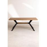 Kogi rechthoekige eettafel van hout en metaal (180x90 cm), miniatuur afbeelding 4
