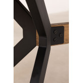 Kogi rechthoekige eettafel van hout en metaal (180x90 cm), miniatuur afbeelding 6